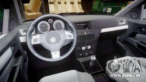 Vauxhall Astra 2010 Metropolitan Police [ELS] pour GTA 4 Vue arrière