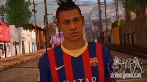 Neymar Skin pour GTA San Andreas troisième écran