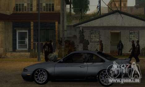 Nissan Silvia S14 Zenki Drift pour GTA San Andreas sur la vue arrière gauche