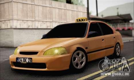 Honda Civic Fake Taxi pour GTA San Andreas