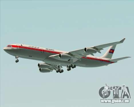 Airbus A340-300 Air Koryo pour GTA San Andreas roue