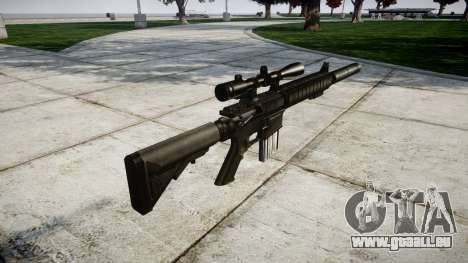 American sniper rifle SR-25 für GTA 4 Sekunden Bildschirm