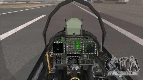 FA-18 Hornet Malaysia Air Force pour GTA San Andreas sur la vue arrière gauche