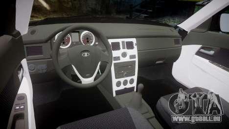 ВАЗ-2170 Lada Priora stock pour GTA 4 est une vue de l'intérieur