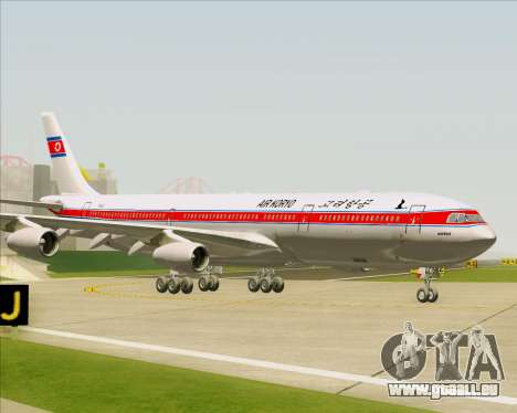 Airbus A340-300 Air Koryo für GTA San Andreas Seitenansicht