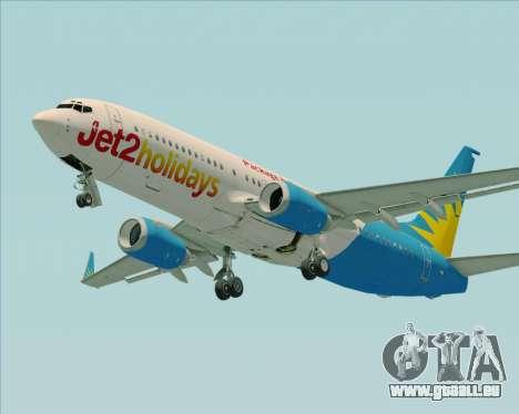 Boeing 737-800 Jet2Holidays pour GTA San Andreas vue arrière