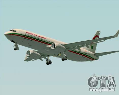 Boeing 737-8B6 Royal Air Maroc (RAM) für GTA San Andreas linke Ansicht