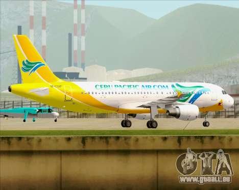 Airbus A320-200 Cebu Pacific Air pour GTA San Andreas vue intérieure