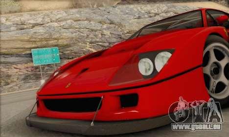 Ferrari F40 Competizione Black Revel für GTA San Andreas rechten Ansicht
