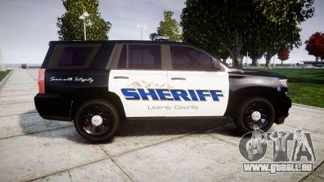 Chevrolet Tahoe 2015 Sheriff [ELS] pour GTA 4 est une gauche
