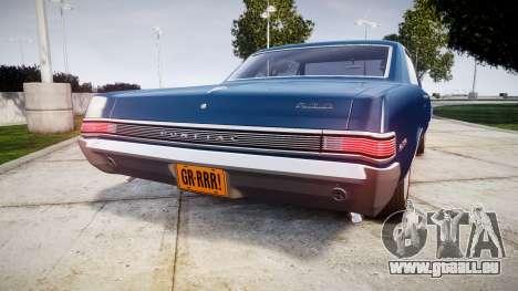 Pontiac GTO 1965 pour GTA 4 Vue arrière de la gauche