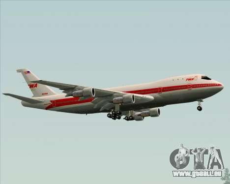 Boeing 747-100 Trans World Airlines (TWA) pour GTA San Andreas vue de dessus