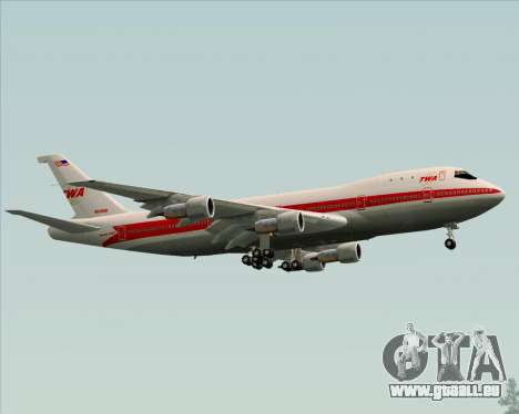 Boeing 747-100 Trans World Airlines (TWA) für GTA San Andreas obere Ansicht