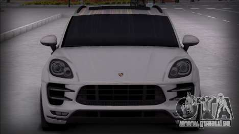 Porsche Macan Turbo für GTA San Andreas zurück linke Ansicht