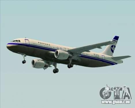 Airbus A320-200 CNAC-Zhejiang Airlines für GTA San Andreas linke Ansicht