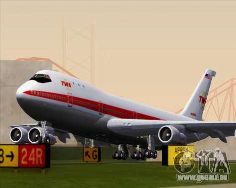 Boeing 747-100 Trans World Airlines (TWA) für GTA San Andreas rechten Ansicht