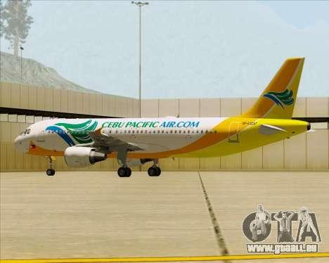 Airbus A320-200 Cebu Pacific Air für GTA San Andreas Räder