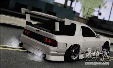 Mazda FC3S pour GTA San Andreas laissé vue