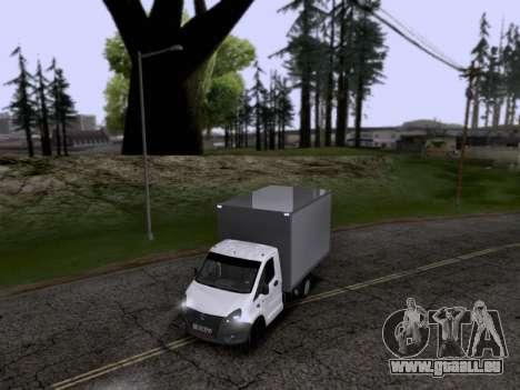Gazelle Weiter für GTA San Andreas Rückansicht