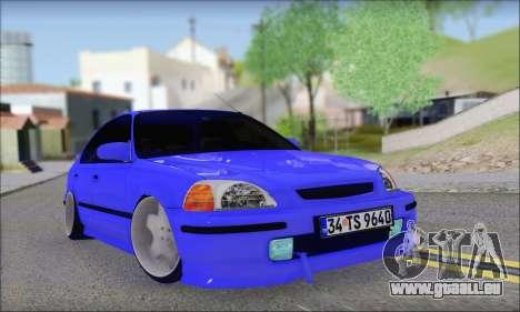 Honda Civic 34 TS 9640 INDIGO pour GTA San Andreas