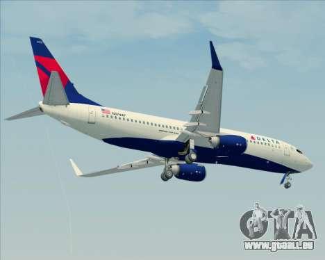 Boeing 737-800 Delta Airlines für GTA San Andreas Seitenansicht