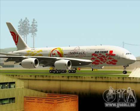 Airbus A380-800 Air China für GTA San Andreas Innenansicht