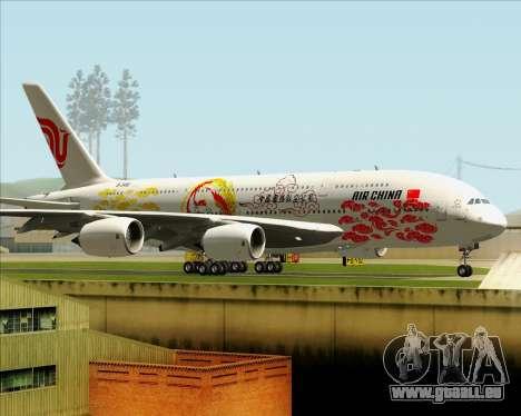 Airbus A380-800 Air China für GTA San Andreas Innenansicht