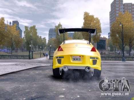 Nissan 350Z Fast And Furious Tokyo Drift für GTA 4 Rückansicht