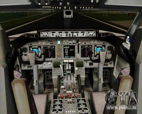 Boeing 737-800 Delta Airlines für GTA San Andreas Innen