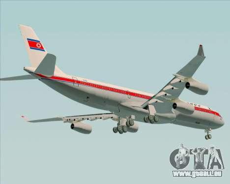 Airbus A340-300 Air Koryo für GTA San Andreas Unteransicht