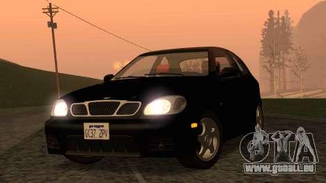 Daewoo Lanos Sport NOUS 2001 pour GTA San Andreas vue arrière