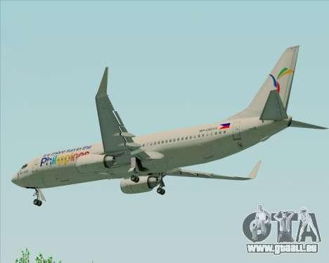 Boeing 737-800 South East Asian Airlines (SEAIR) pour GTA San Andreas vue de dessous