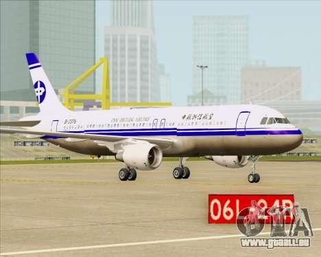 Airbus A320-200 CNAC-Zhejiang Airlines für GTA San Andreas Rückansicht