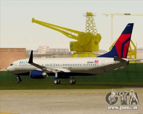 Boeing 737-800 Delta Airlines für GTA San Andreas obere Ansicht