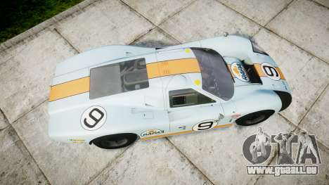 Ford GT40 Mark IV 1967 PJ RAPA olio 9 für GTA 4 rechte Ansicht
