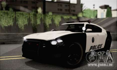 Bravado Buffalo S Police Edition (IVF) pour GTA San Andreas vue arrière