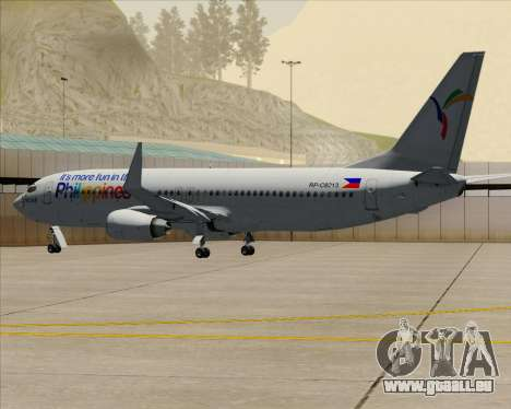 Boeing 737-800 South East Asian Airlines (SEAIR) pour GTA San Andreas vue de dessus