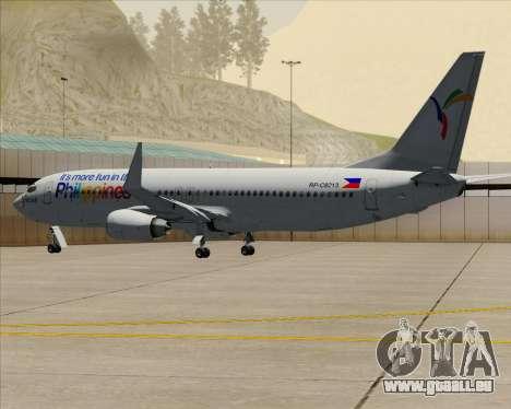 Boeing 737-800 South East Asian Airlines (SEAIR) pour GTA San Andreas vue de dessus