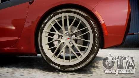 Chevrolet Corvette Z06 2015 TirePi2 pour GTA 4 Vue arrière