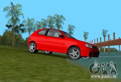 Daewoo Lanos Sport NOUS 2001 pour une vue GTA Vice City de la droite