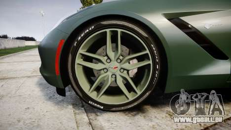 Chevrolet Corvette C7 Stingray 2014 v2.0 TirePi2 pour GTA 4 Vue arrière
