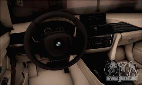 BMW F30 320d für GTA San Andreas zurück linke Ansicht
