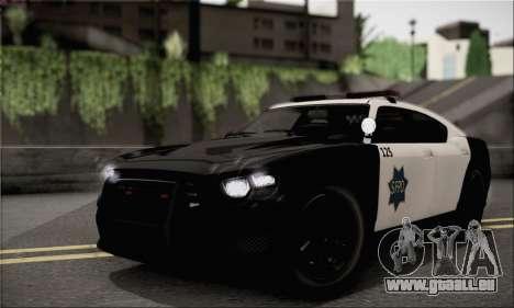Bravado Buffalo S Police Edition (IVF) pour GTA San Andreas vue de droite