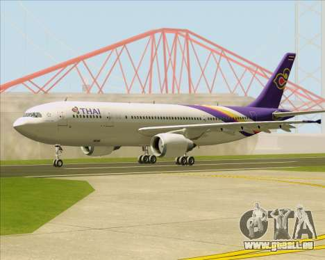 Airbus A300-600 Thai Airways International für GTA San Andreas zurück linke Ansicht