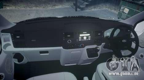 Ford Transit 2011 SuperSportVan für GTA 4 Rückansicht