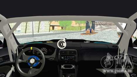 Nissan Silvia S14 Falken pour GTA San Andreas sur la vue arrière gauche