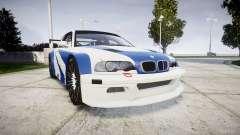 BMW M3 E46 GTR Most Wanted plate NFS-Hero für GTA 4