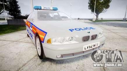 BMW 525i E39 Touring Police [ELS] JSTV pour GTA 4