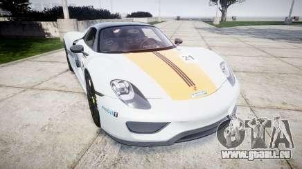 Porsche 918 Spyder 2014 Weissach pour GTA 4