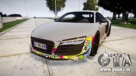 Audi R8 LMX 2015 [EPM] Sticker Bomb pour GTA 4